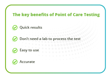 Key benefits of Point of Care Testing with lyo beads
