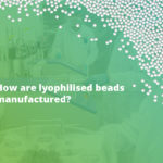 How are lyophilised beads manufactured